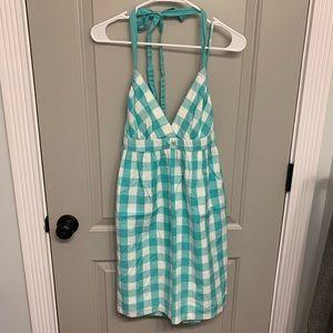 Delia's size M mint green plaid halter dress
